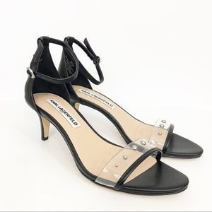Karl Lagerfeld Dixie Studded Ankle Strap Sandals